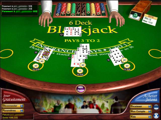 blackjack jeu