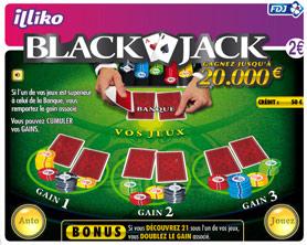 jeu a gratter blackjack